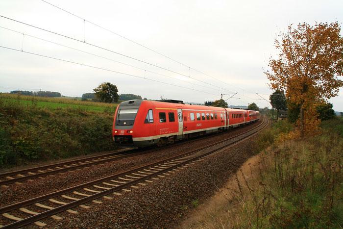 612 002 mit RE am BÜ Colmnitz