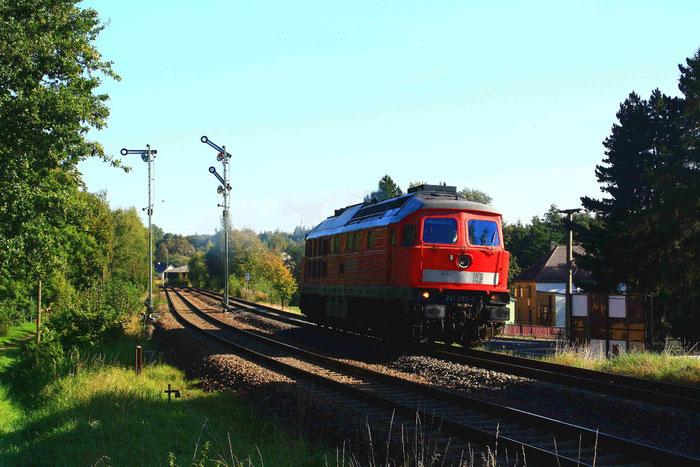 241 353 Lz bei der Ausfahrt aus Miltitz-Roitzschen
