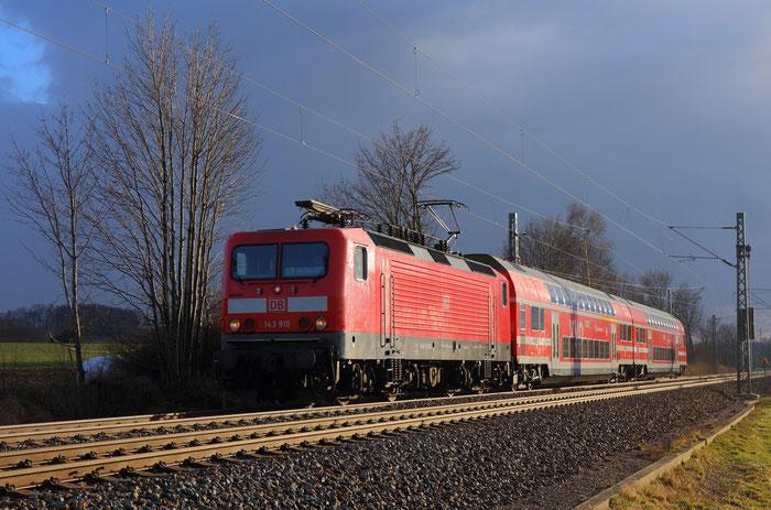 143 910 mit S Bahn nach Dresden
