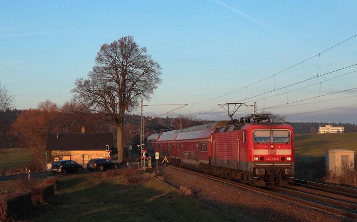 143 591 mit RB 30 nach Zwickau bei Colmnitz