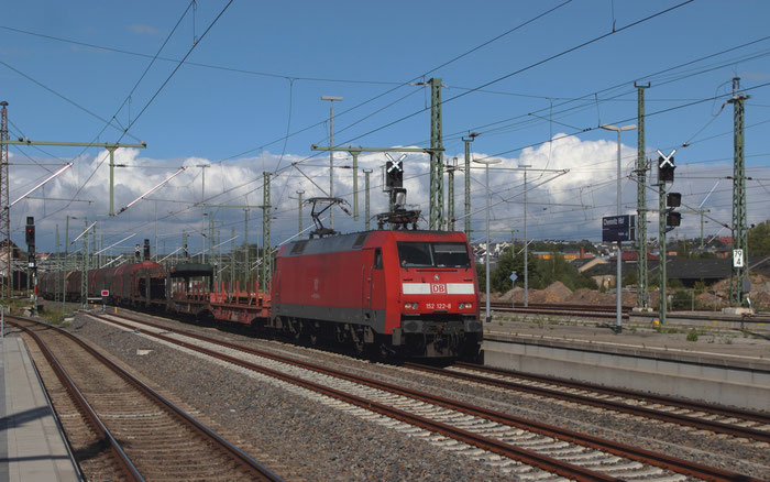 152 122 mit umgeleitetem Mischer nach Zwickau in Chemnitz