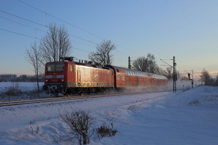 143 837 mit S Bahn nach Dresden in Colmnitz