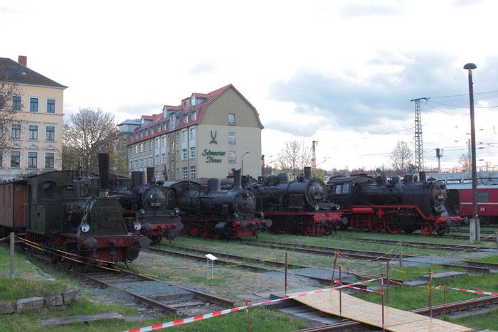 """Die Lok """"Hegel"""", 92 503, 55 669, 78 009 und 24 004 in Dresden Altstadt"""