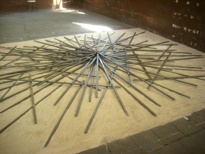 Was uns verbindet 2010 - Stahl, Sand -   Weichenwerk Witten    Starke Orte 2010