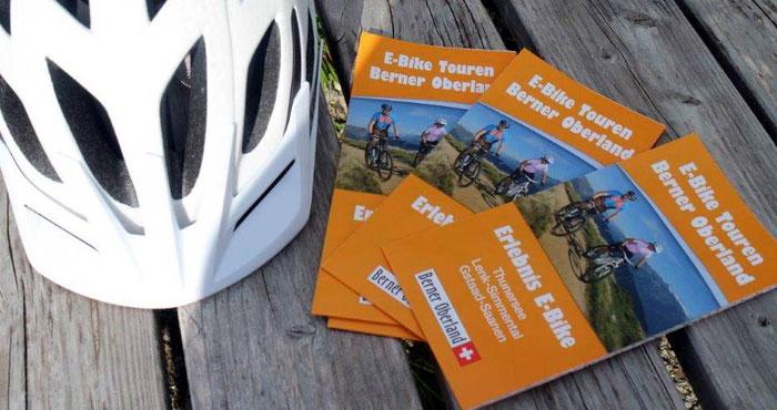 E-Bike und E-Mountainbike Tourenkarte Berner Oberland