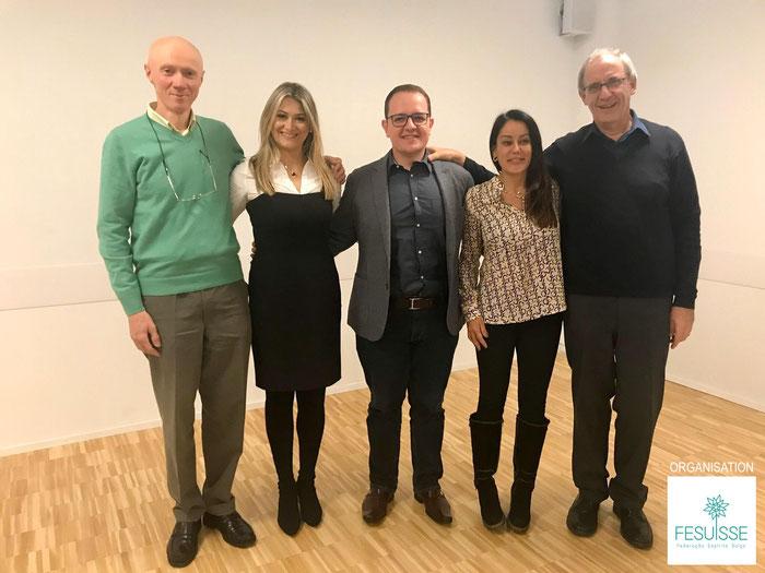 Jean-Paul Evrard - Juliana Gerk Edo - Pedro Camilo Silva - Lívia Lúcia - Charles Kempf | 1er Symposium sur le Spiritisme en Suisse Romande