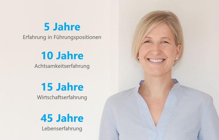Anne Hausmann, Führungserfahrung,Kompetenz, zertifiziert, Ausbildung, Coach, Achtsamkeit, MBSR
