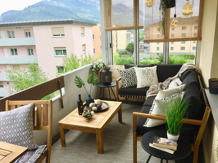 ReDesign Einrichtung Balkon Outdoor Lounge Yala Do it garden Brunnen