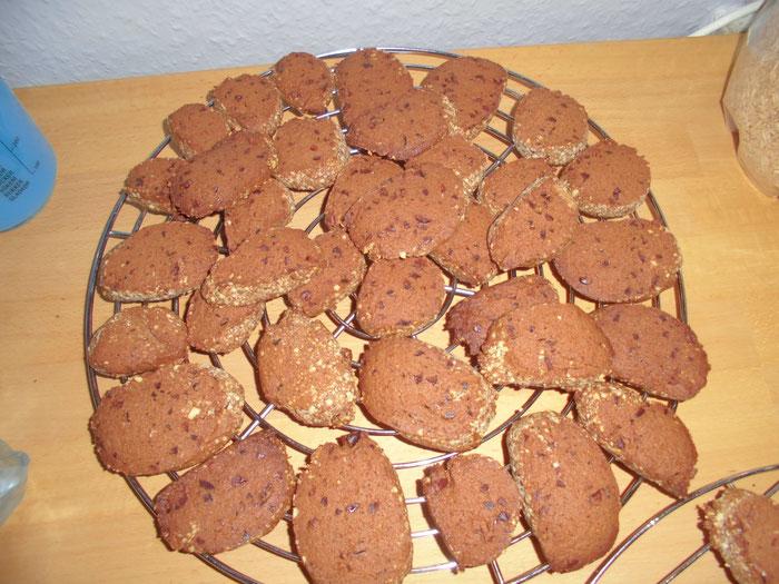 Kakao-Butterkeks mit Kakaosplittern, honiggesüsst