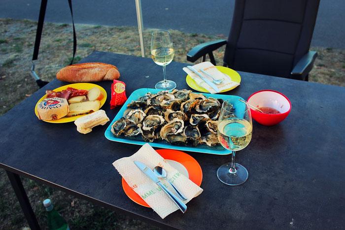 Austern, Camping Rezept