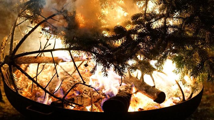 Weihnachtsbaumverbrennung in Golzow 2020
