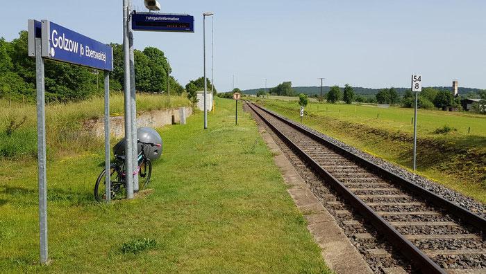 Der Bahnhof in Golzow