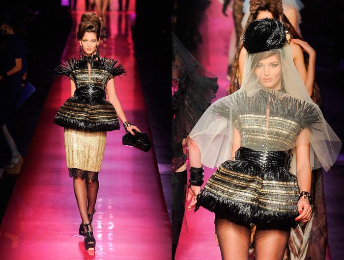 tissage jean paul gaultier raffia noir doré haute couture claire le roux designer textile