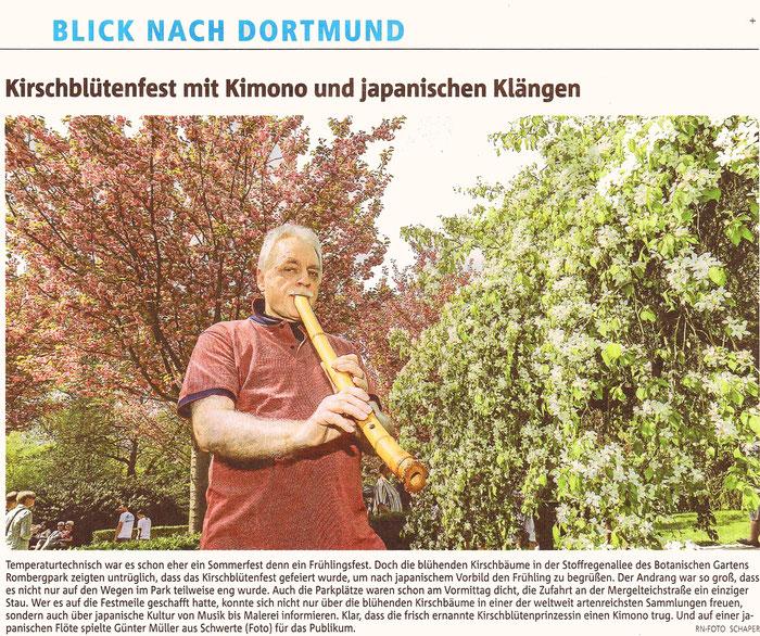 Günter Müller beim japanischen Kirschblütenfest im Rombergpark Dortmund 2018