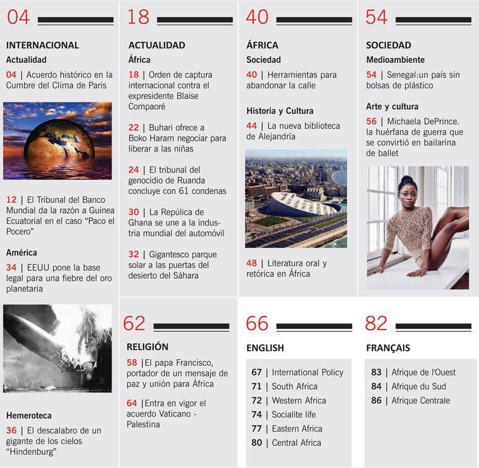 SUMARIO Revista Panáfrica nº47