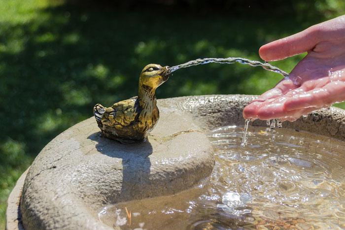Trinkwasser aus Brunnen