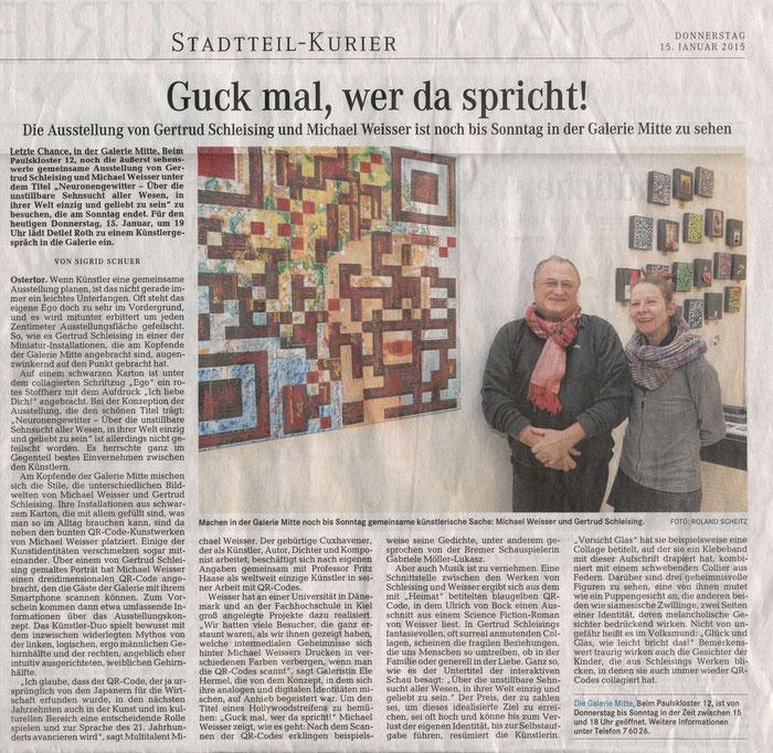 Stadtteil-Kurier, Sigrid Schuer, 15.01.2015
