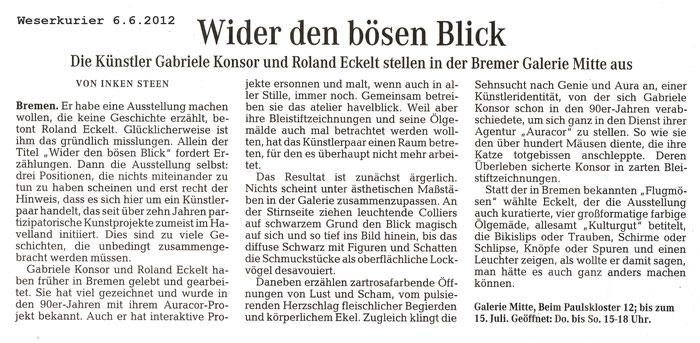 Weserkurier, Inken Steen, 06.06.2012