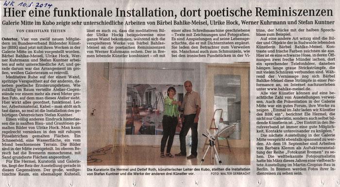 Weserkurier, Christiane Tietjen, 10.08.2014