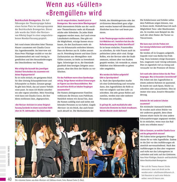 Aus dem Schulblatt AG/SO, Nr. 14, 2012
