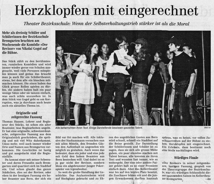 Bremgarter Bezirks-Anzeiger, Kathrin Aerni. 2012