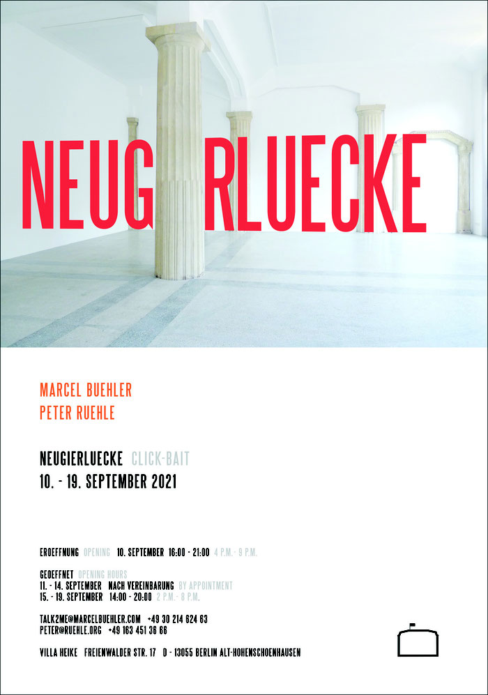 Marcel Buehler Peter Ruehle Villa Heike Berlin contemporary art exhibition