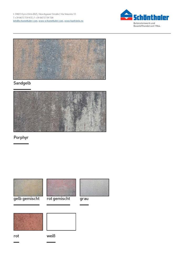 Pflastersteine Farben Schönthaler