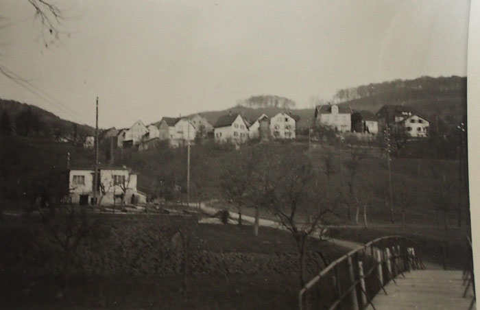 Blick über das Trülibrügli nach Füllinsdorf. Heute ist alles zugebaut.