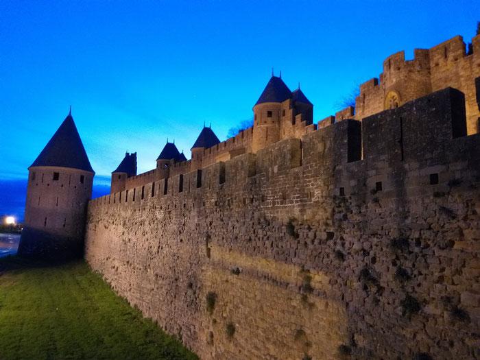 Каркассон, город-крепость во Франции