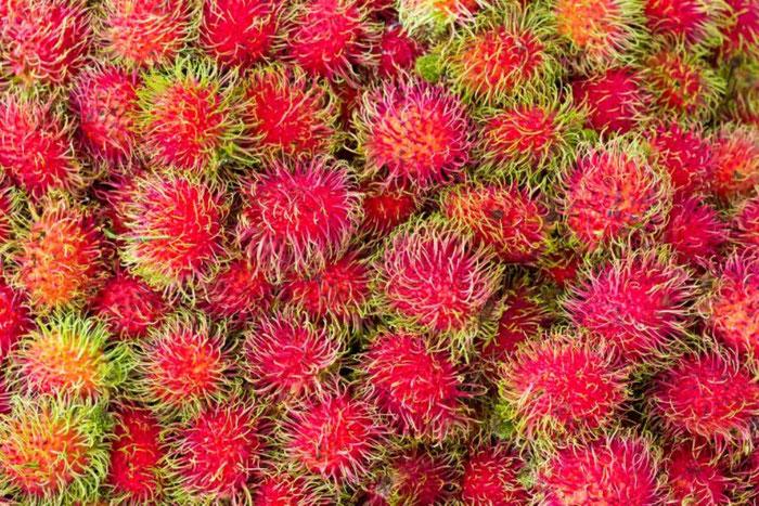 Rambutan - Рынок Бокерия - экзотические фрукты