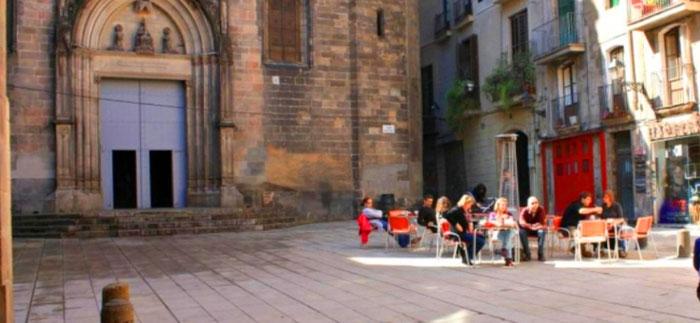 Площадь Сант Жуст в Барселоне