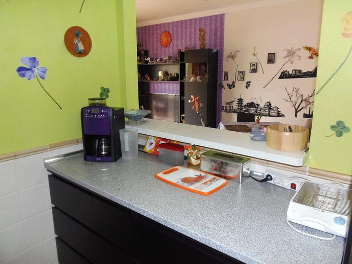 alter Blick aus der Küche, die Wohnung hat einen neuen Anstrich erhalten.