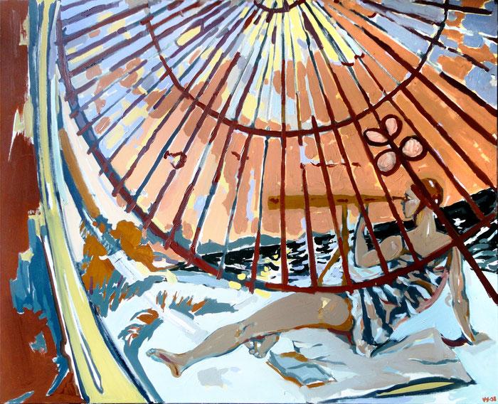 "Vladimir Sitnikov ""Lächeln"", 2008, Öl auf Leinwand, 120x150 cm"
