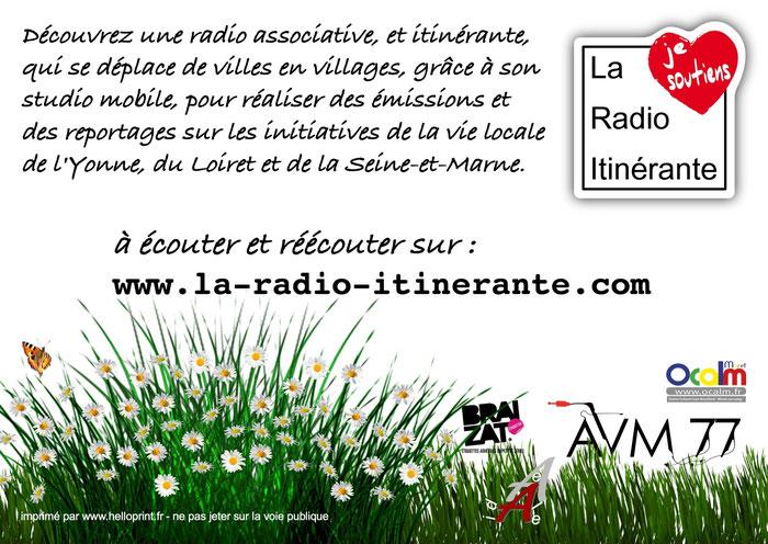 flyer de présentation de La Radio Itinérante