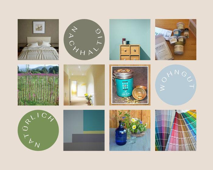 WOHNGUT - Übersicht: Naturfarben für Wände und Möbel, Gartenholz, Zäune, Bio-Tee, Trinkwassser truu water