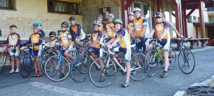 Der Fokus liegt im Straßenradsport - Hier innerhalb des jährlichen Trainingslagers in Rockytnice (CZ).