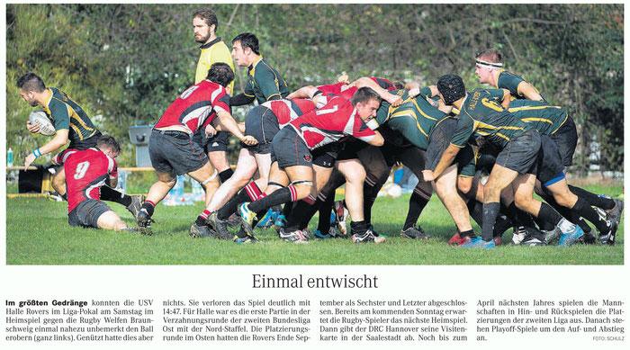 21.10.14 Mitteldeutsche Zeitung (mit Besten Dank an das Team der MZ ;) )