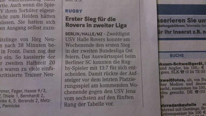 23. Sep.2014 Mitteldeutsche Zeitung