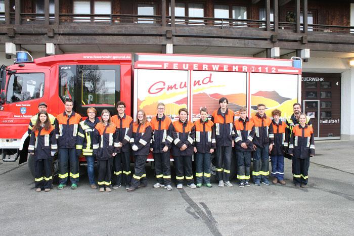 """die """"Azubis"""" der Feuerwehr Gmund am Tegernsee"""