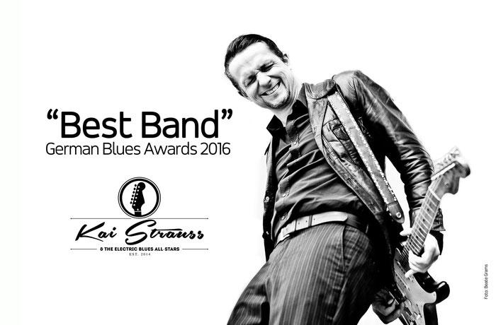 Kai Strauss & The Electric Blues All-Stars sind mit dem Preis für die beste deutsche Blues-Band 2016 ausgezeichnet worden.