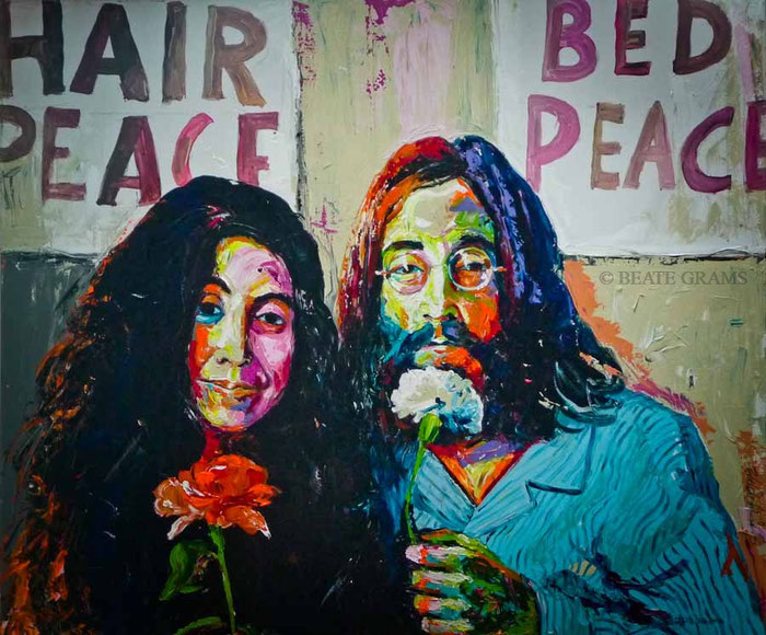 "LENNON & YOKO ONO ""HAIR PEACE BED PEACE"""