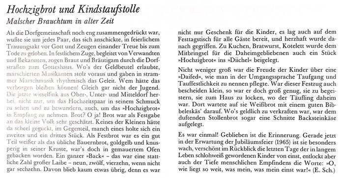 Hochzigbrot, aus Buch W. Wildemann Leben 1991 S 105