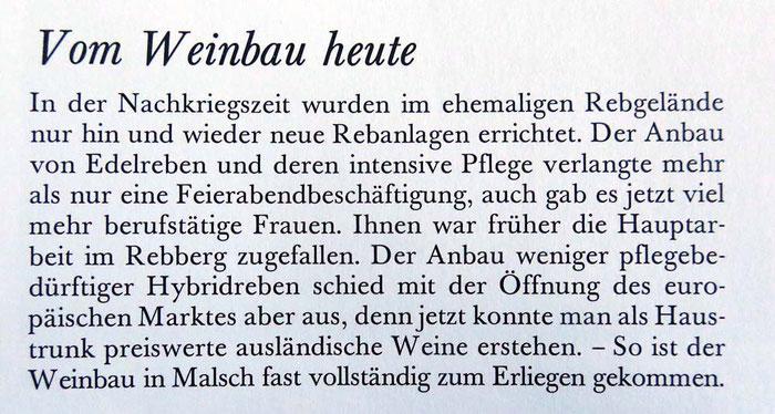 """Aus Wilhelm Wildemann Buch """"Malscher Leben"""" 1991 Seite 66"""