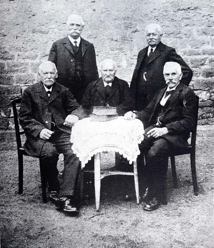 Gründungsmitglieder AGV Konkordia beim goldenen Jubiläum 1928, hi. re. A. Azone