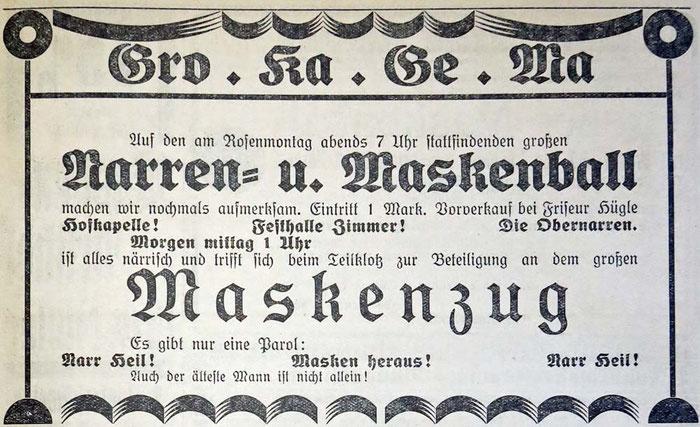 Gemeindeanzeiger 9. Februar 1929