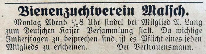 Gemeindeanzeiger 26. Januar 1924