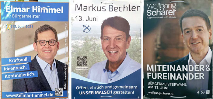 Die drei in Frage kommenden Kandidaten