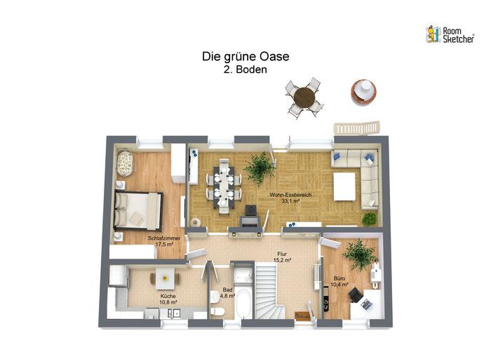 Erdgeschoss in 3D