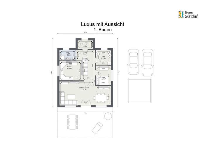Grundriss Erdgeschoss in 2D