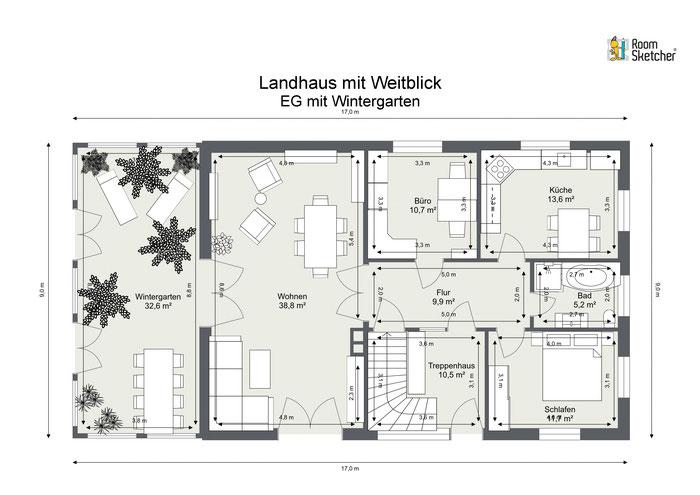 Erdgeschoss in 2D